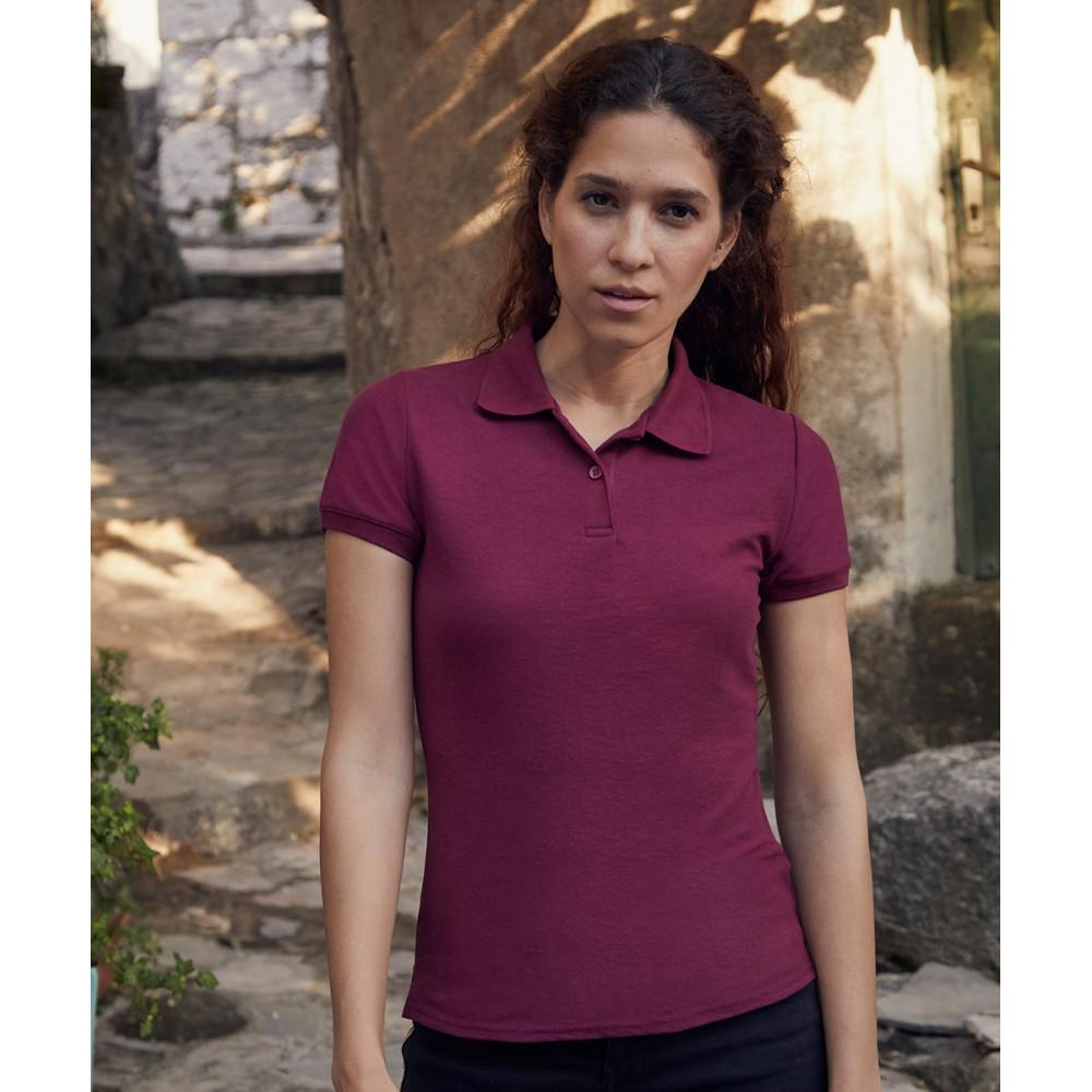 CYRENZO - Polo Femme mélange de 65 % polyester et 35 % coton - FRUIT OF THE LOOM - (T shirts, Débardeurs, Polos femme)