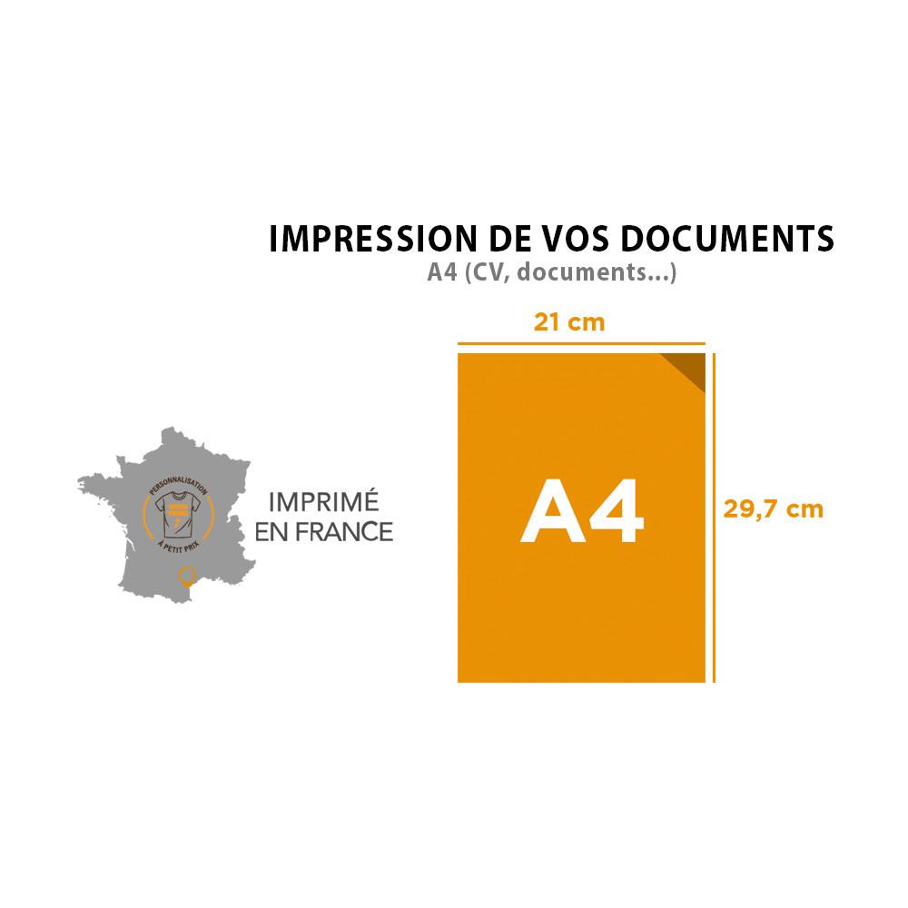 Impression de vos documents A4 (CV, documents)
