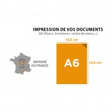 Impression de vos documents A6 (Flyers, cartes de menu, brochures)