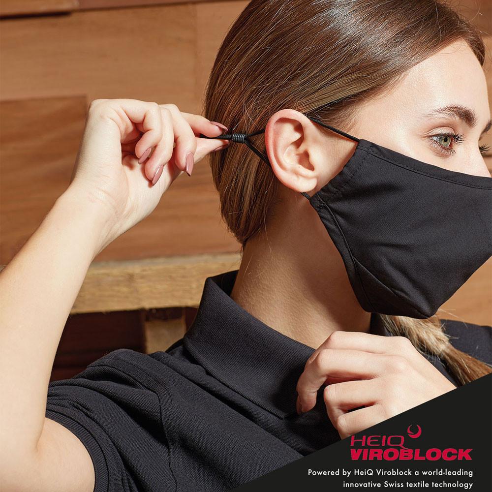 CYRENZO - Masque triple épaisseur, protection HeiQ Viroblock - Premier - (Masques de protection médicale)