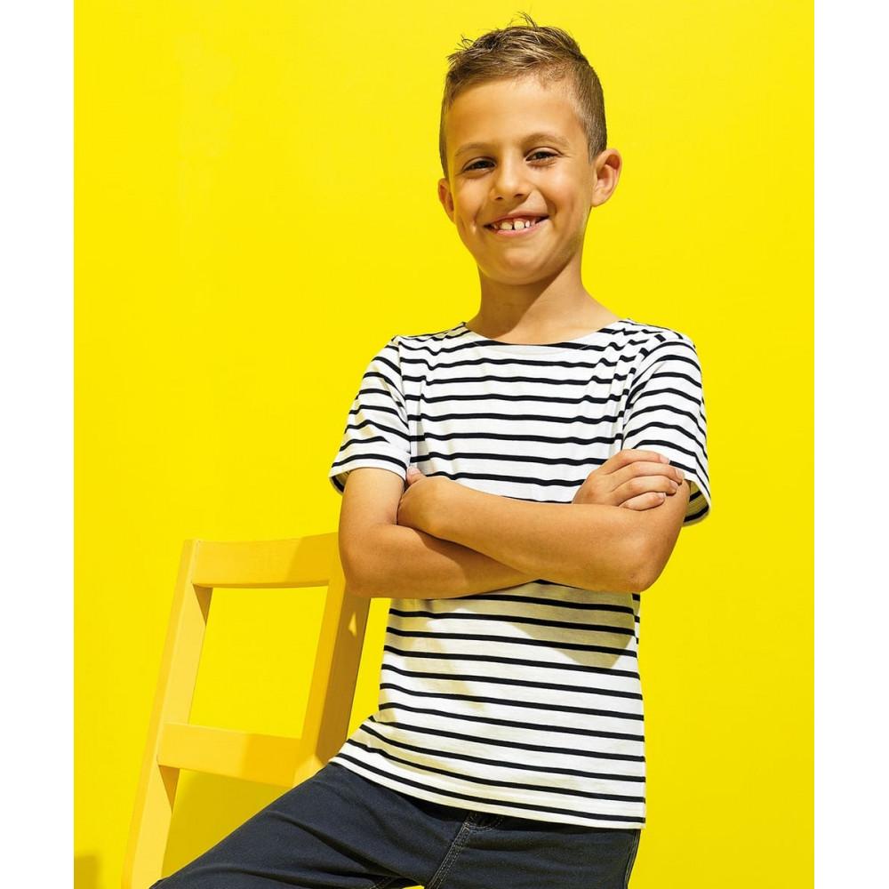 CYRENZO - T-shirt marinière coastal enfant à manches courtes - ASQUITH & FOX - (T-shirts, débardeurs et polos enfant)