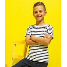 T-shirt marinière « coastal » enfant à manches courtes