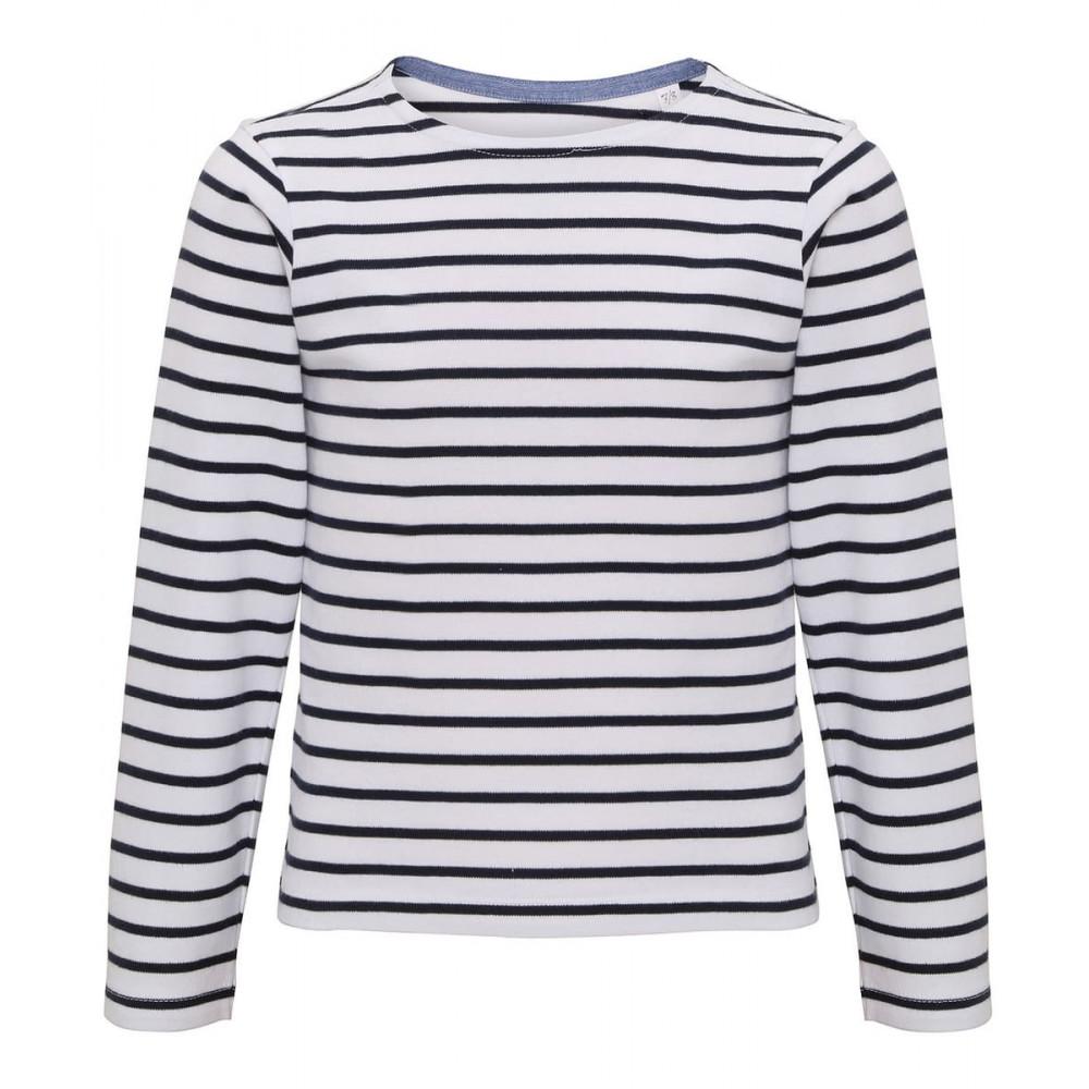 CYRENZO - T-shirt marinière coastal enfant à manches longues - ASQUITH & FOX - (T-shirts, débardeurs et polos enfant)