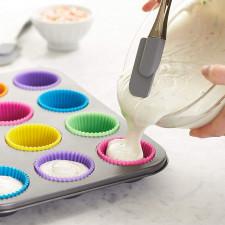 CYRENZO - Moules à muffins et cupcakes en Silicone, 12 pièces - COOKLOV - (Ustensiles de cuisine professionnels)