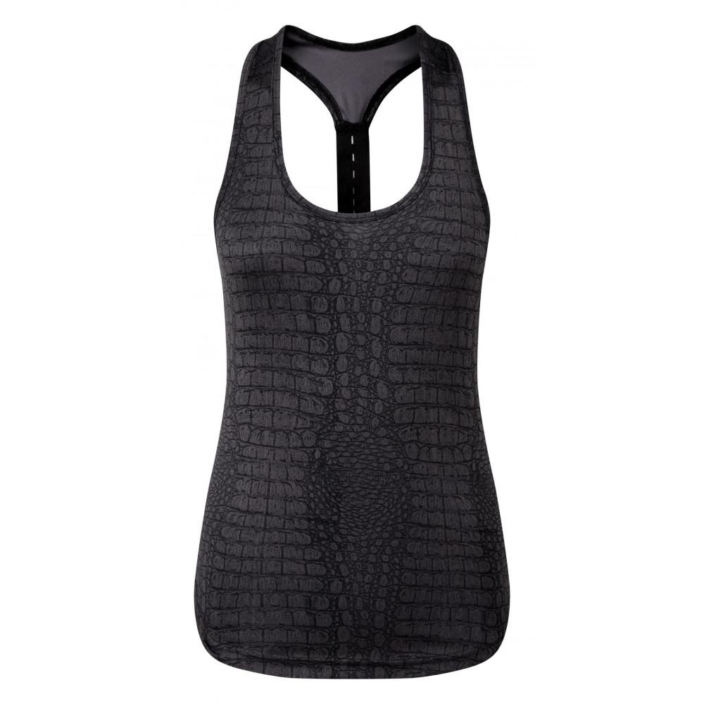 CYRENZO - Débardeur technique femme motif animal à dos nageur - TRIDRI® - (T shirts, Débardeurs, Polos femme)