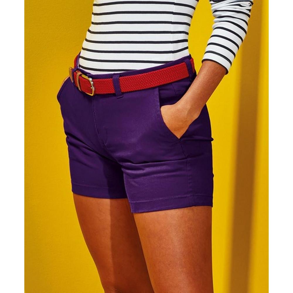 CYRENZO - Short femme en coton coupe classique - ASQUITH & FOX - (Robes, Jupes & Shorts femme)
