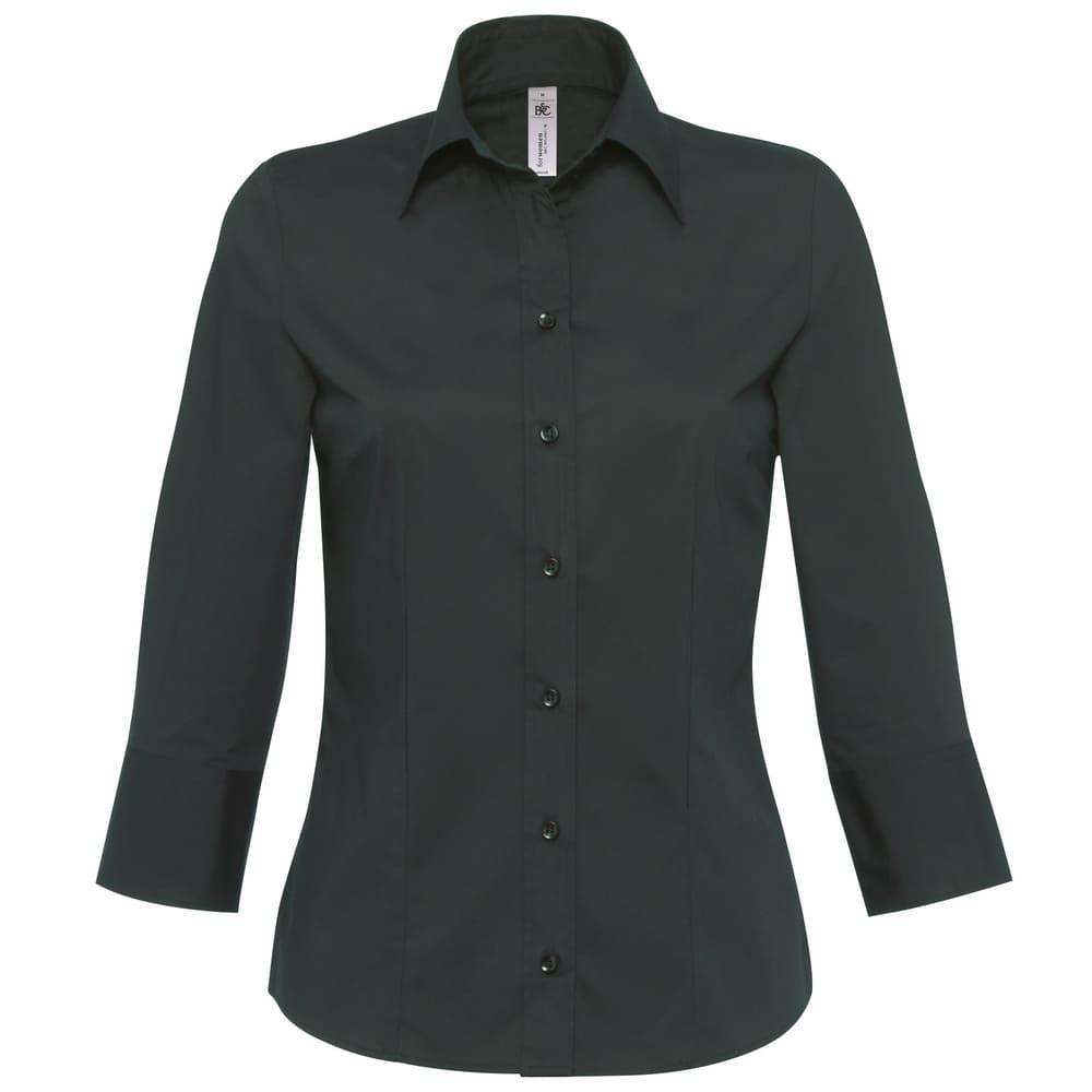 CYRENZO - Chemisier popeline à manches trois-quarts, B&C Milano - B&C - (Chemises & chemisiers femme)