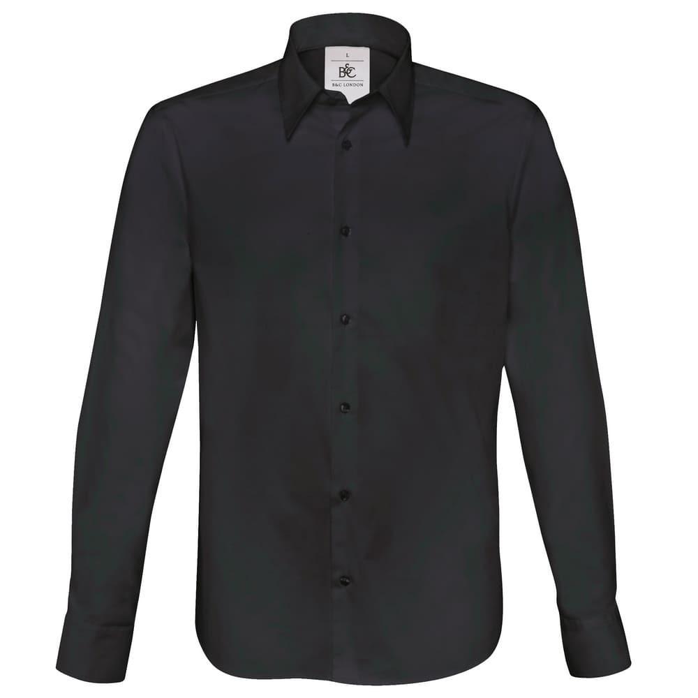 CYRENZO - Chemise ajustée à manches longues en popeline, B&C London - B&C - (Chemises Homme)
