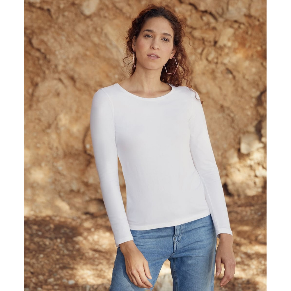 CYRENZO - T-shirt femme manches longues Valueweight Fruit Of The Loom - FRUIT OF THE LOOM - (T shirts, Débardeurs, Polos femme)