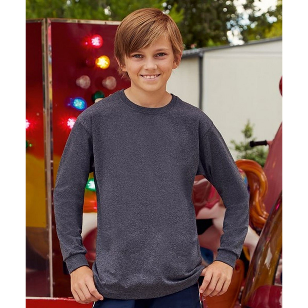 T-shirt Enfant à manches longues valueweight Fruit Of The Loom