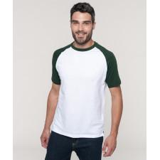 T-shirt bicolore premium manches courtes