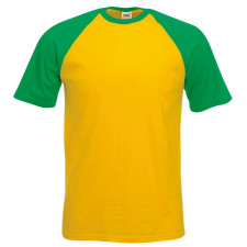 CYRENZO - T-shirt baseball manches courtes - FRUIT OF THE LOOM - (T shirts & Débardeurs Homme)