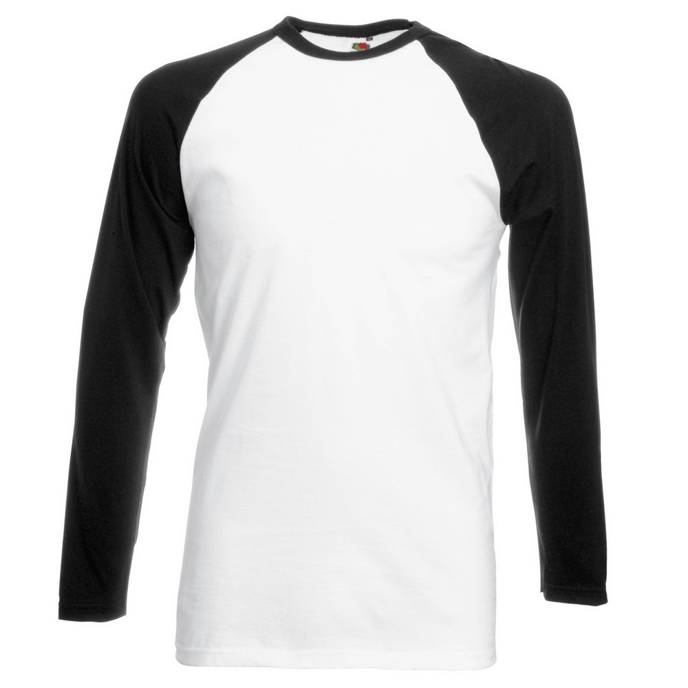 CYRENZO - T-shirt baseball manches longues - FRUIT OF THE LOOM - (T shirts & Débardeurs Homme)