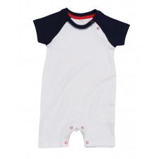 CYRENZO - Combishort bébé en coton bio style baseball - BABYBUGZ - (Vêtements pour bébé & tout petit)