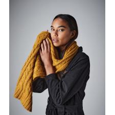 Echarpe en laine mélangée torsadée