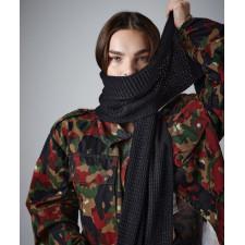 Écharpe classique à tricot gaufré
