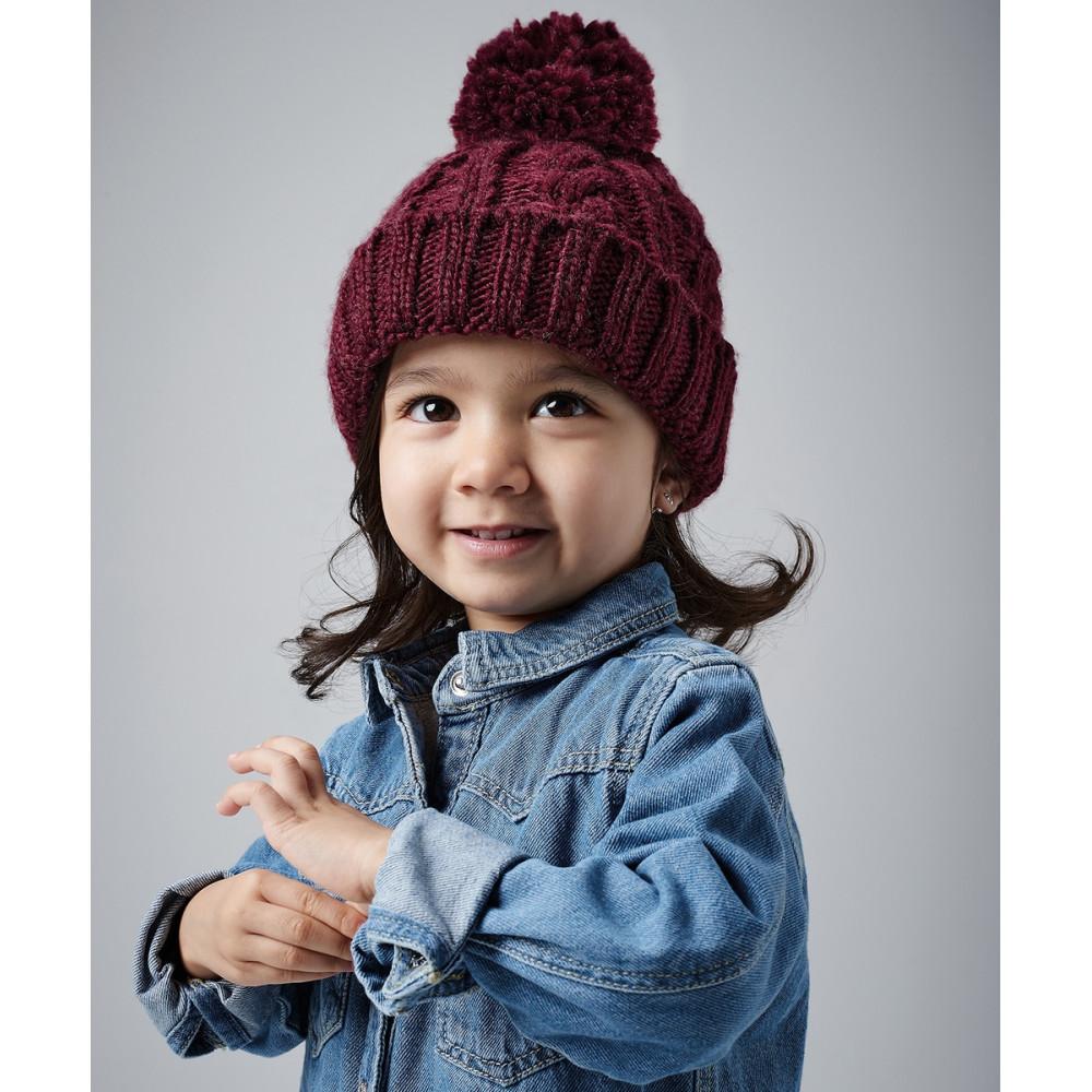 CYRENZO - Bonnet en laine mélangée torsadée pour bébé - BEECHFIELD - (Bonnets Tendance et original)