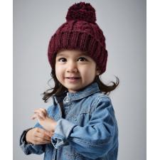 Bonnet en laine mélangée torsadée pour bébé