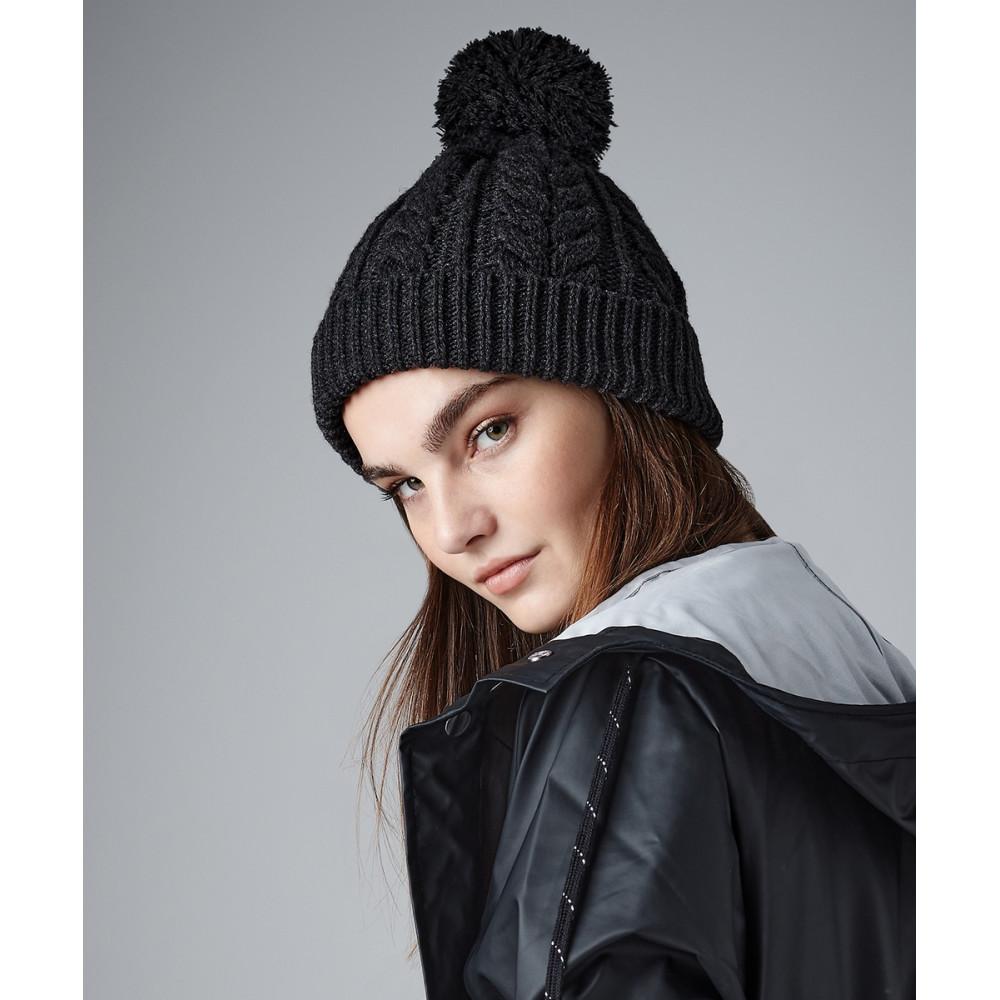 Bonnet snowstar® en tricot torsadé