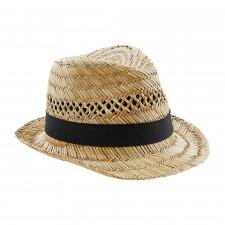CYRENZO - Chapeau Trilby d'été en paille - BEECHFIELD - (Casquettes, bobs, bandanas et chapeaux)